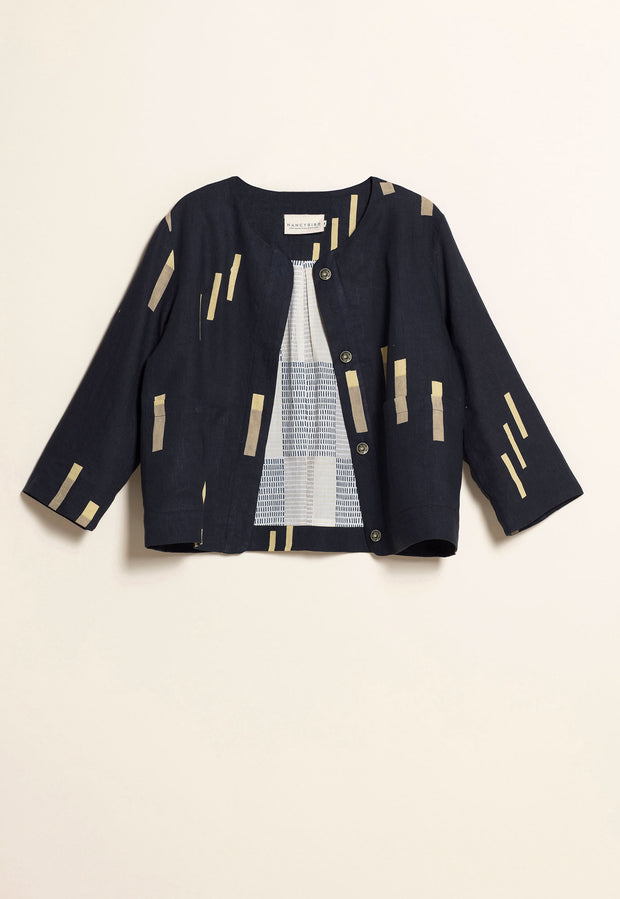 Cropped Jacket - Navy Marker