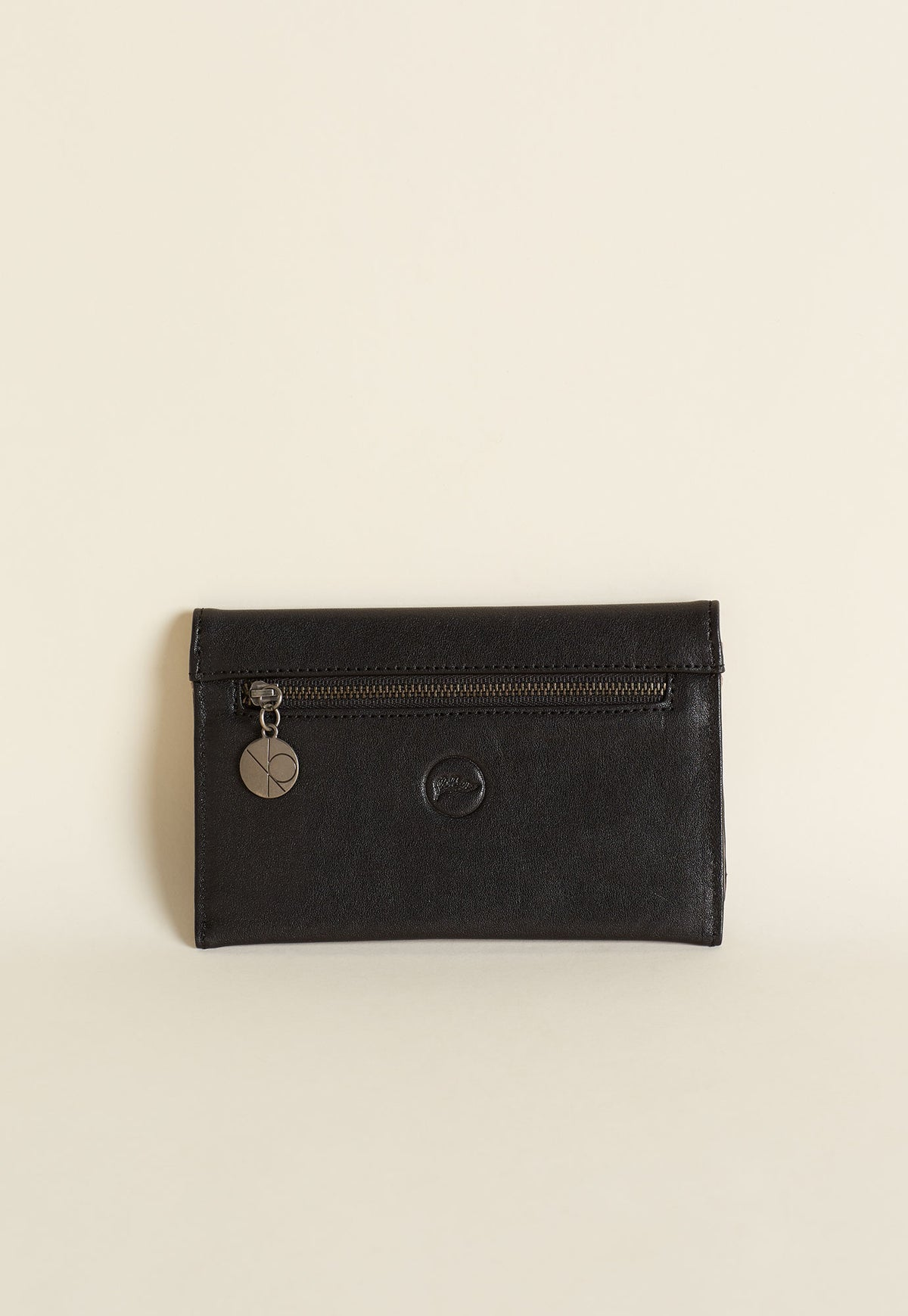 Embroidered Wallet - Black