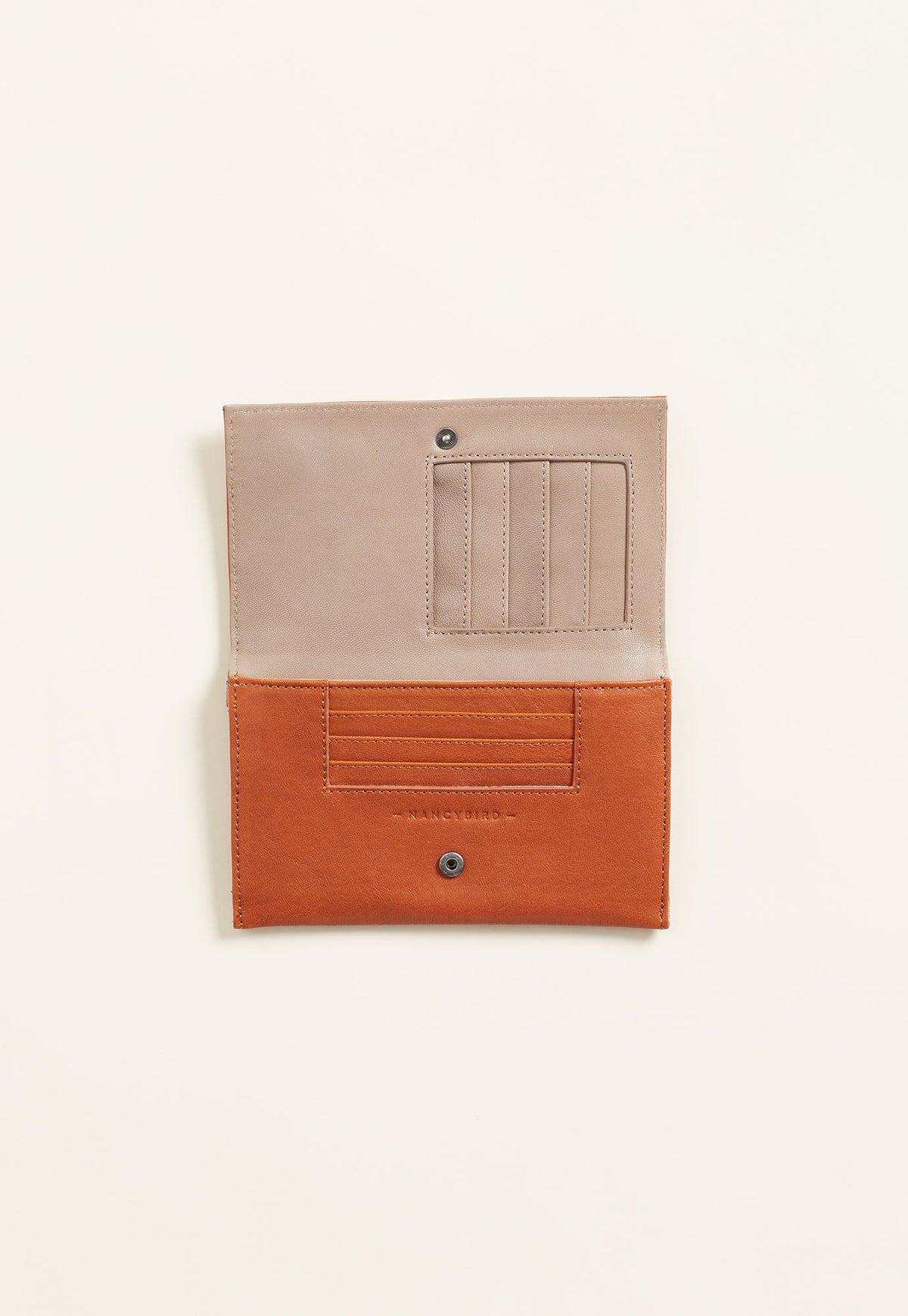 Embroidered Wallet - Rust