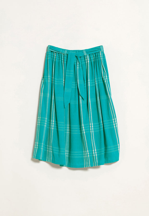 Gathered Skirt - Aqua Woven