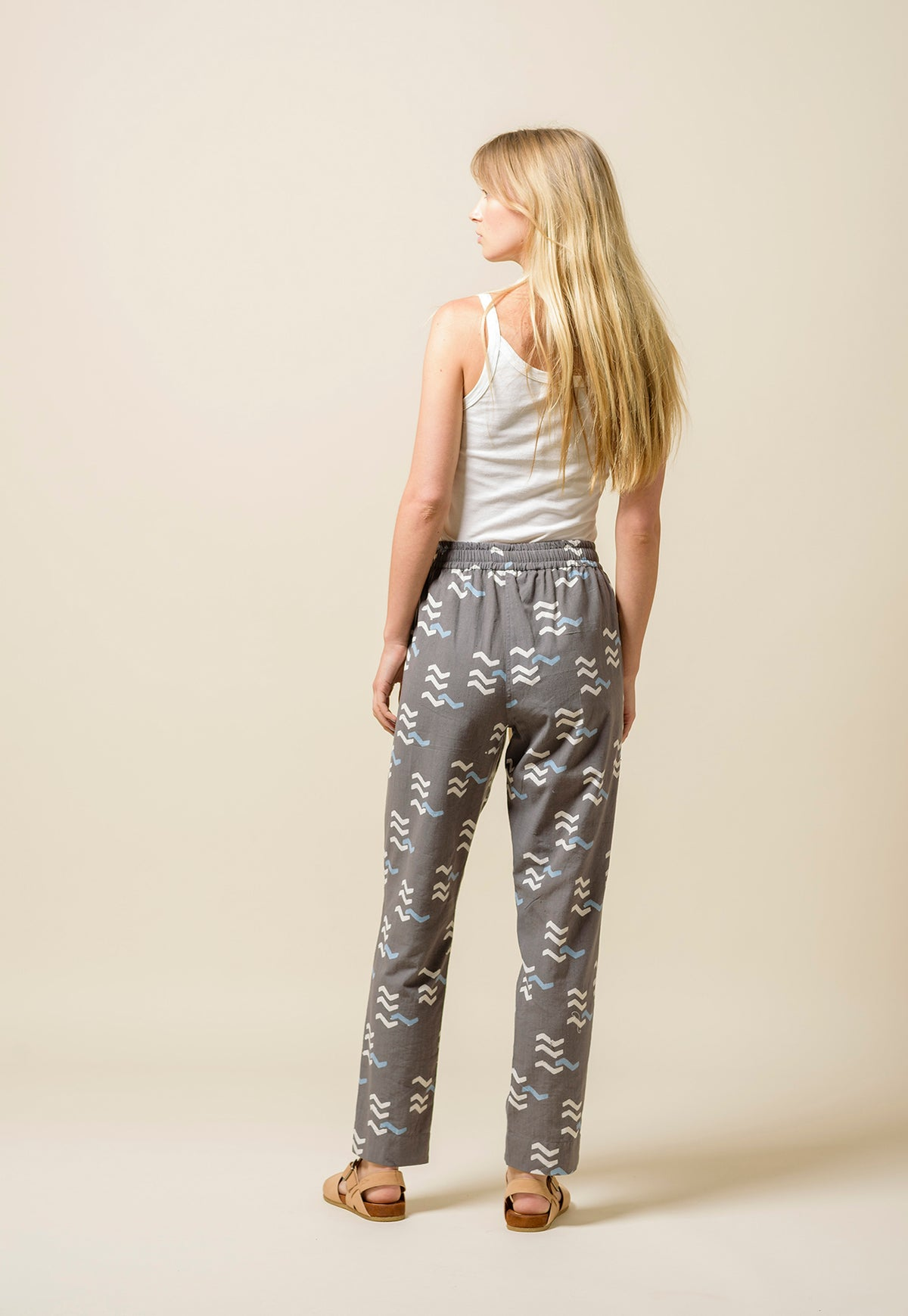 Addis Pants - Grey Tracks