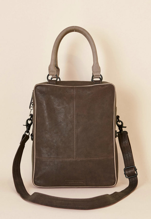 Griffin Tote - Dark Chocolate