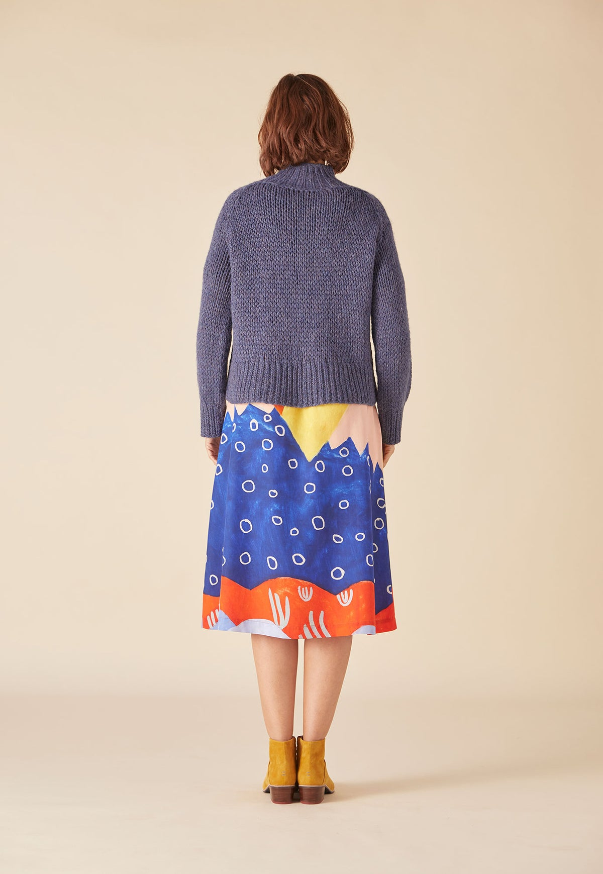 Hand Knit Jumper - Denim