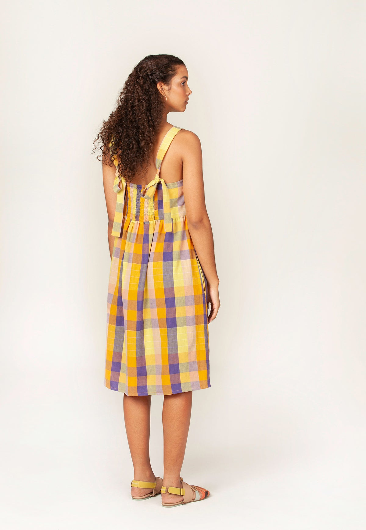 Yamba Dress - Rising Sun Check