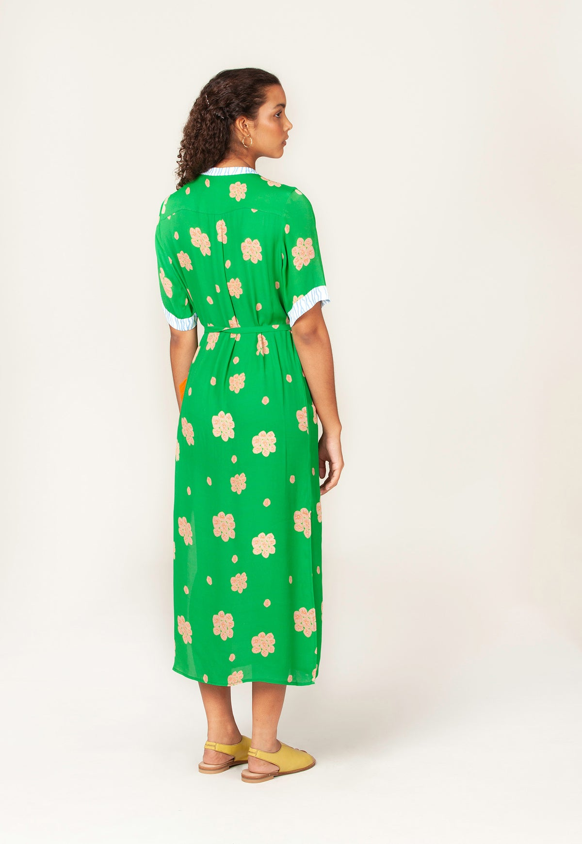 Flinders Dress - Posy Coral Green