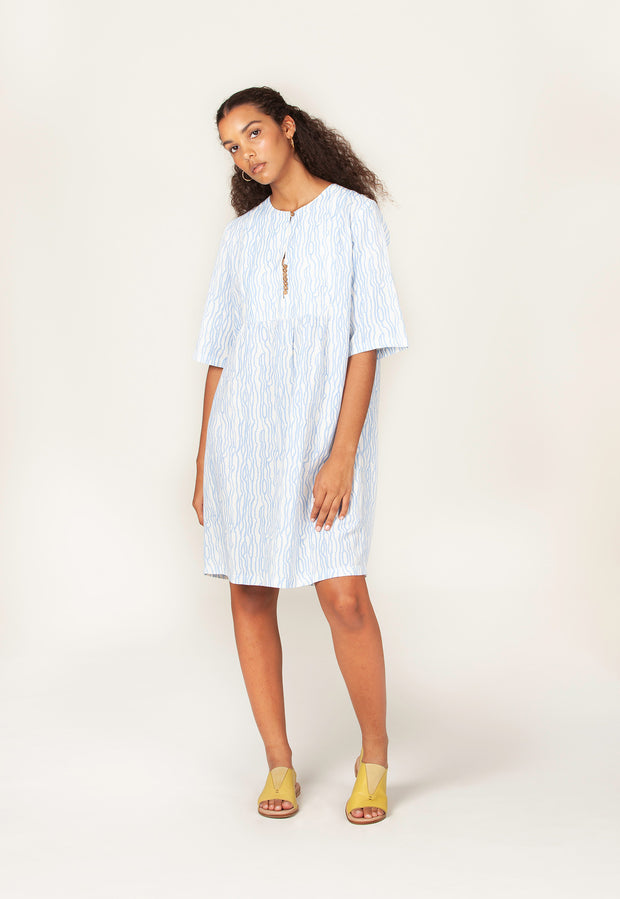 Fairhaven Dress - Waves Blue