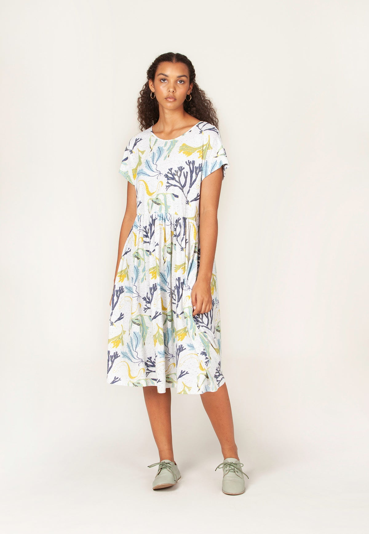 Tathra Dress - Seaweed White