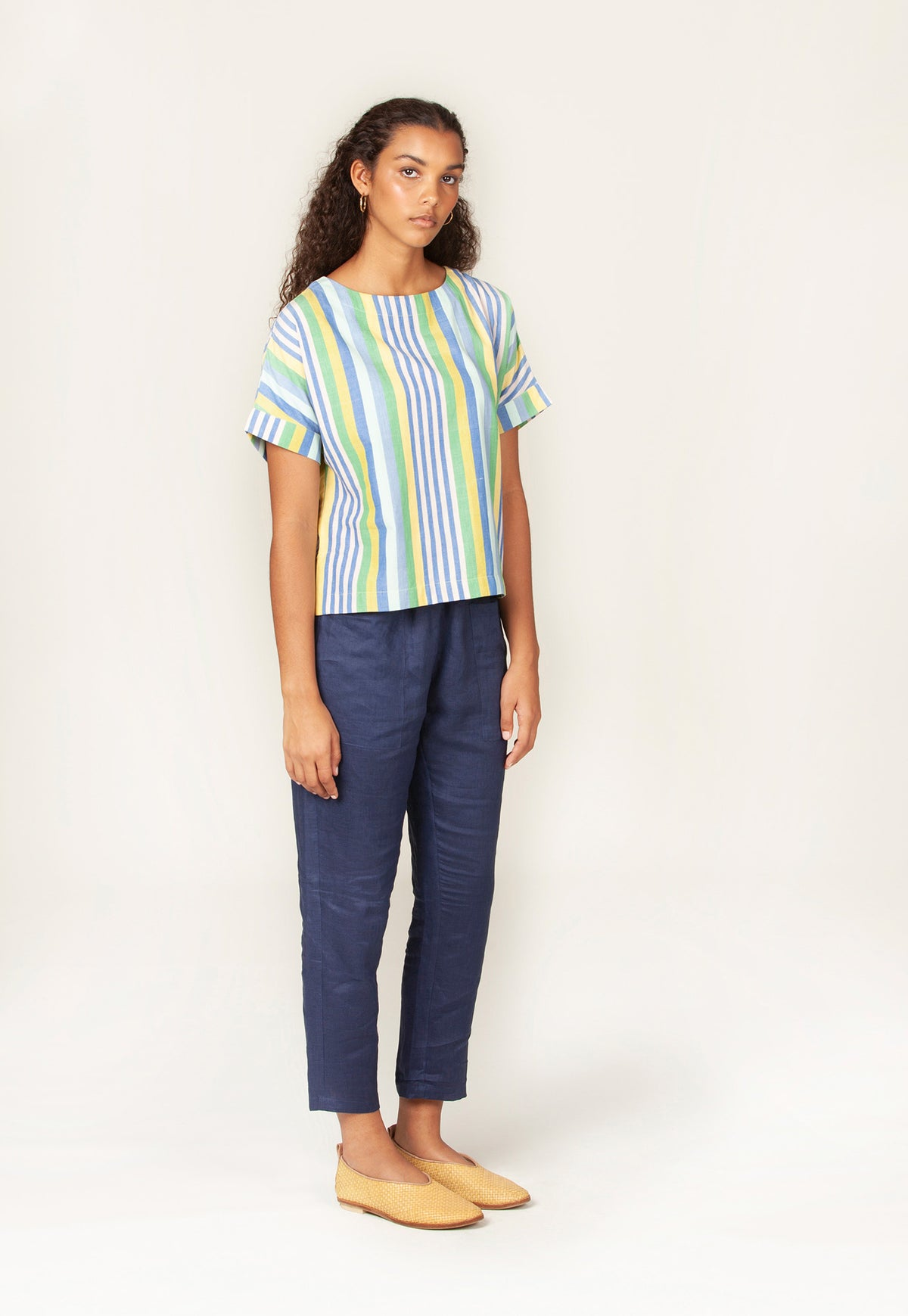Dolman Top - Pacific Stripe
