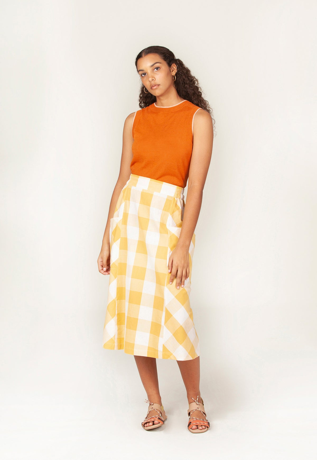 Turners Skirt - Sunshine Check