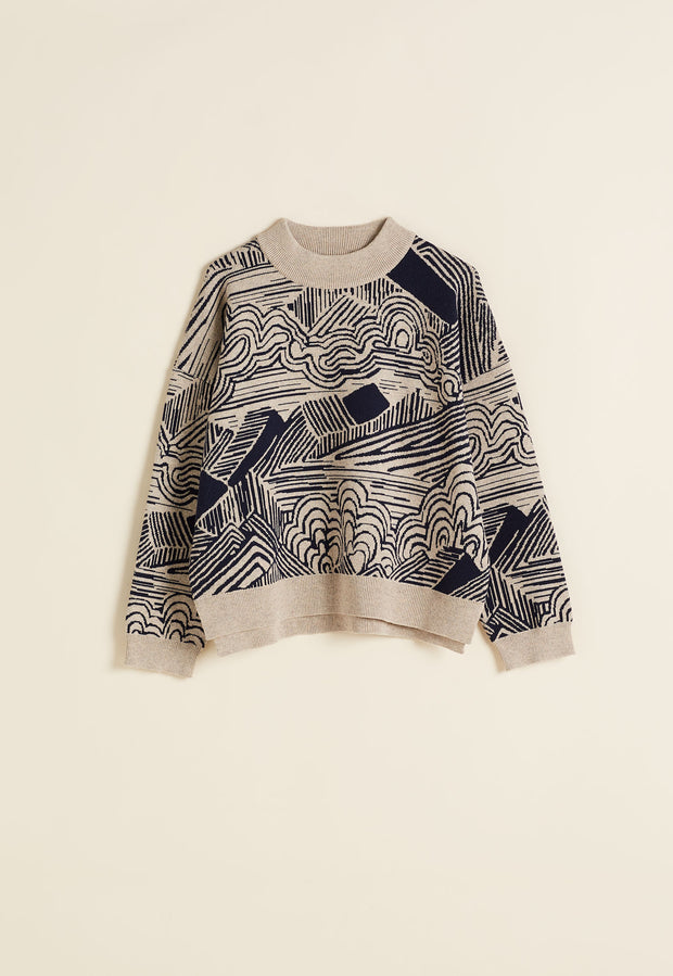 Jacquard Jumper - Mountains