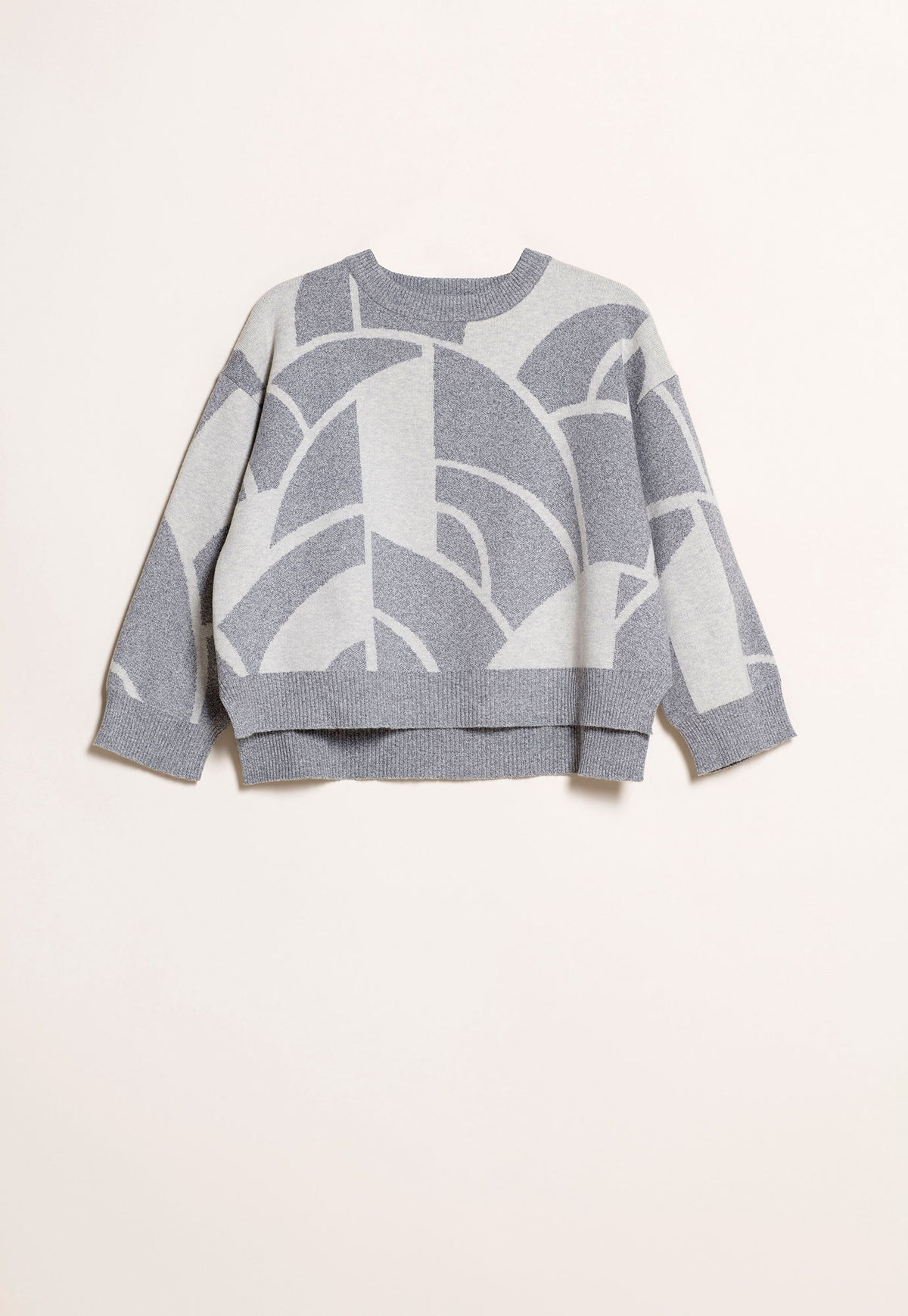 Jacquard Jumper - Cloud