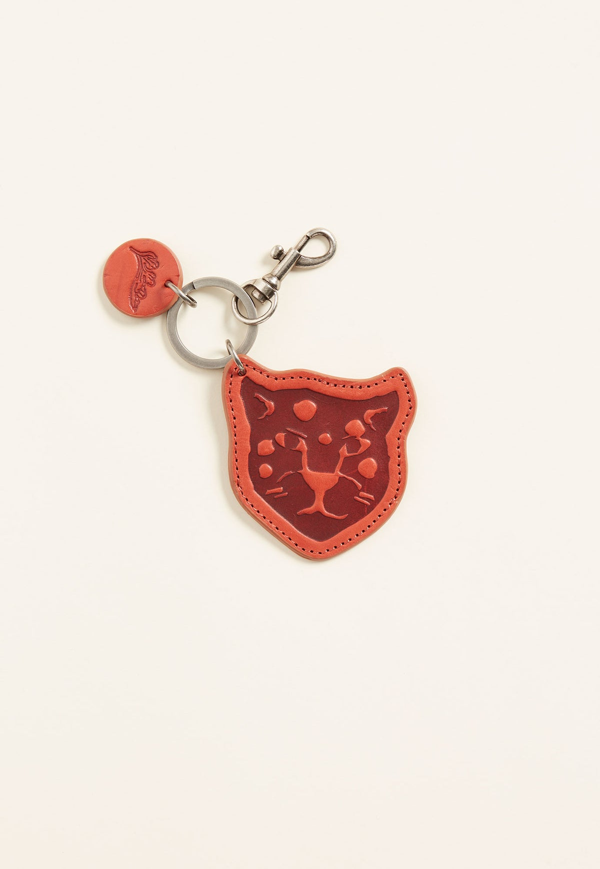 Snow Leopard Keyring - Red