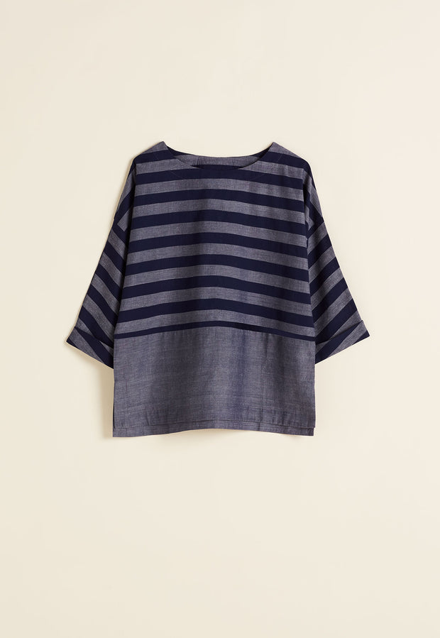 Lhasa Top - Midnight Stripe