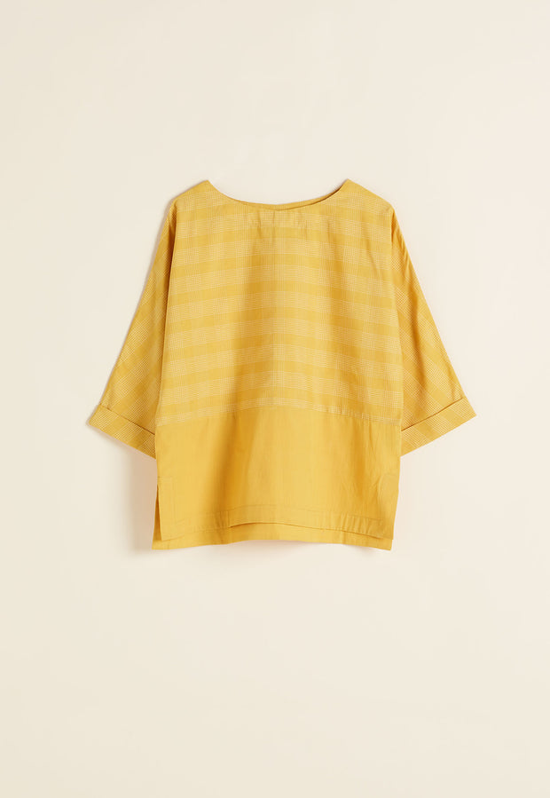 Lhasa Top - Mustard Check