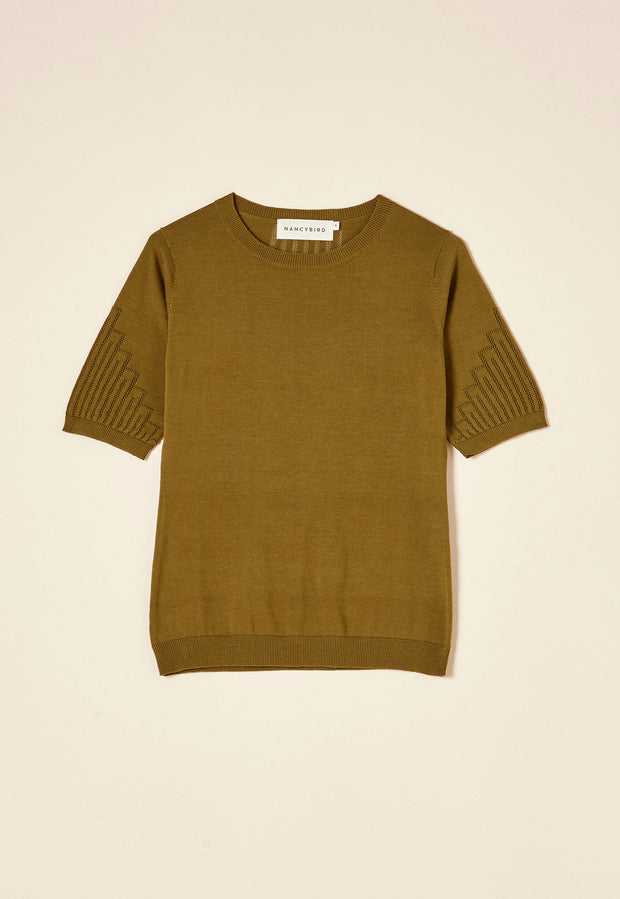 Lace T-Shirt - Olive
