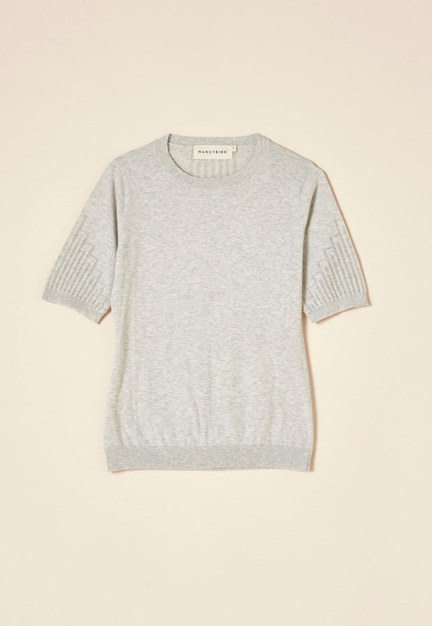 Lace T-Shirt - Pearl