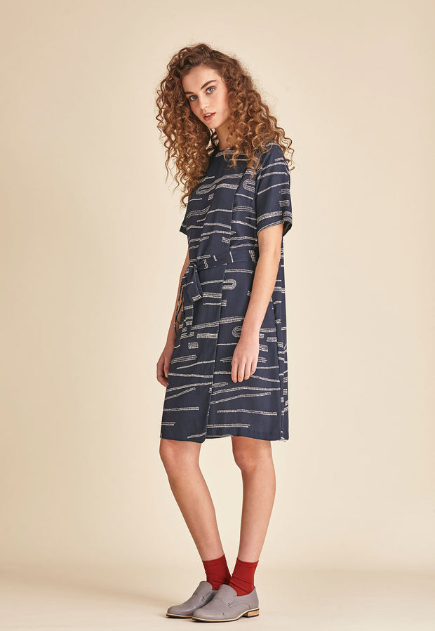 Layered Dress - Navy Mudflats