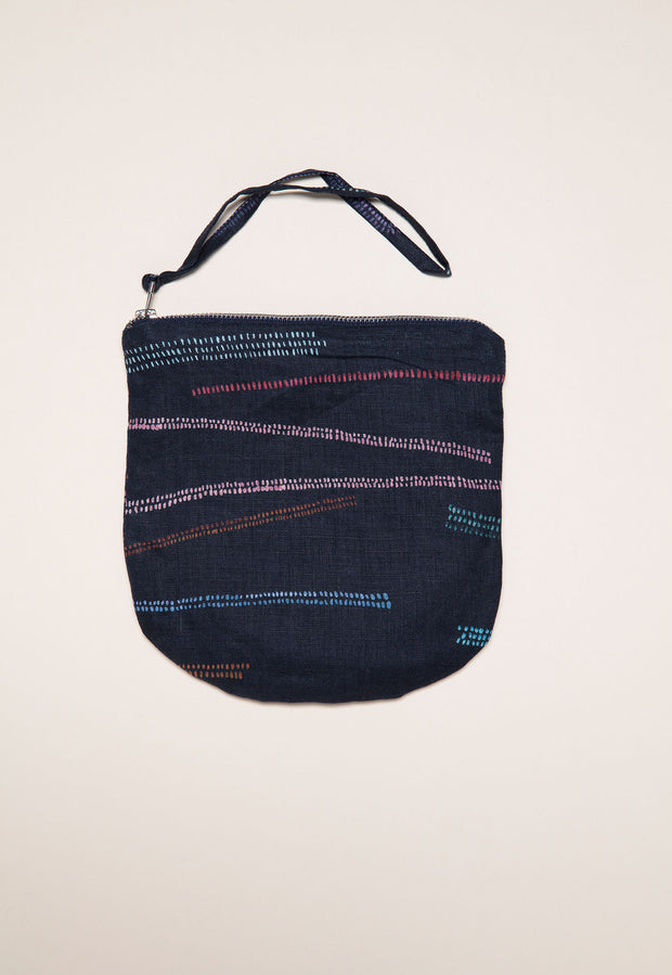 Linen Purse - Multi Mudflats