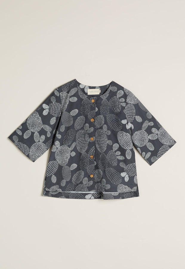 May Shirt - Charcoal Prickly Pear