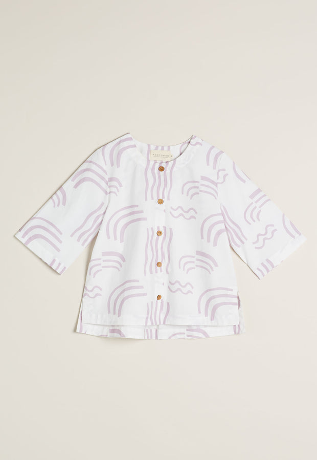 May Shirt - Lilac Waterways