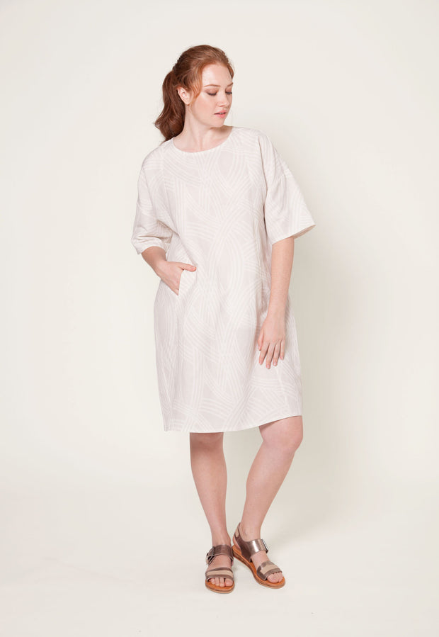 Carlisle Dress - Grey Tracks