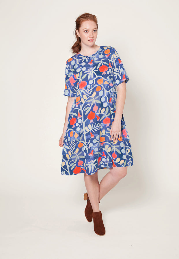 Clifton Dress - Pomegranate