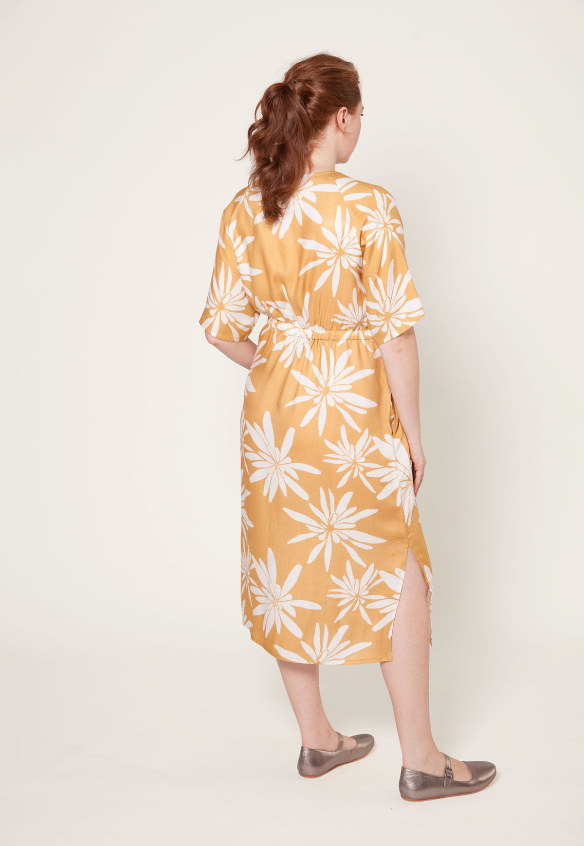Gracie Dress - Mustard Yam Daisy