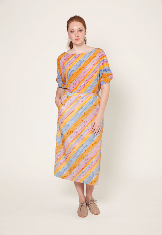 Tanner Skirt - Horizon Stripe