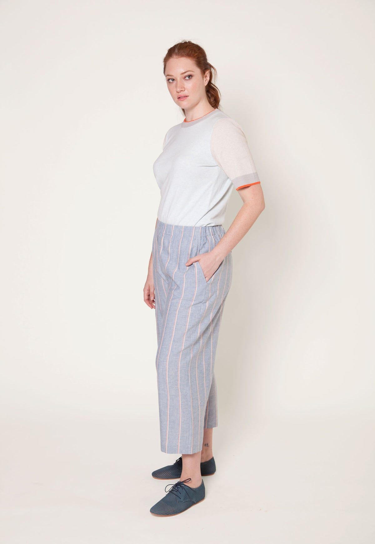 Harper Pant - Wide Stripe