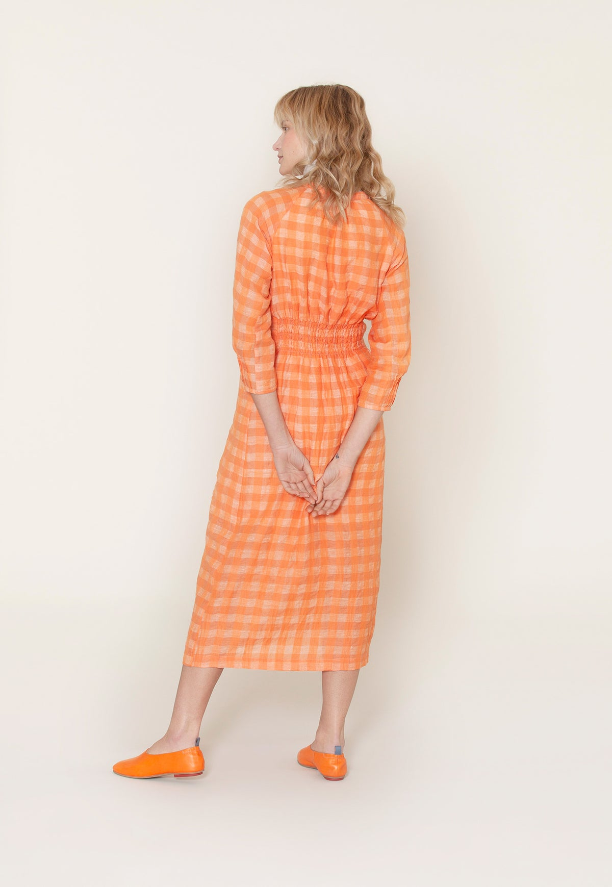 Sundew Dress - Orange Check