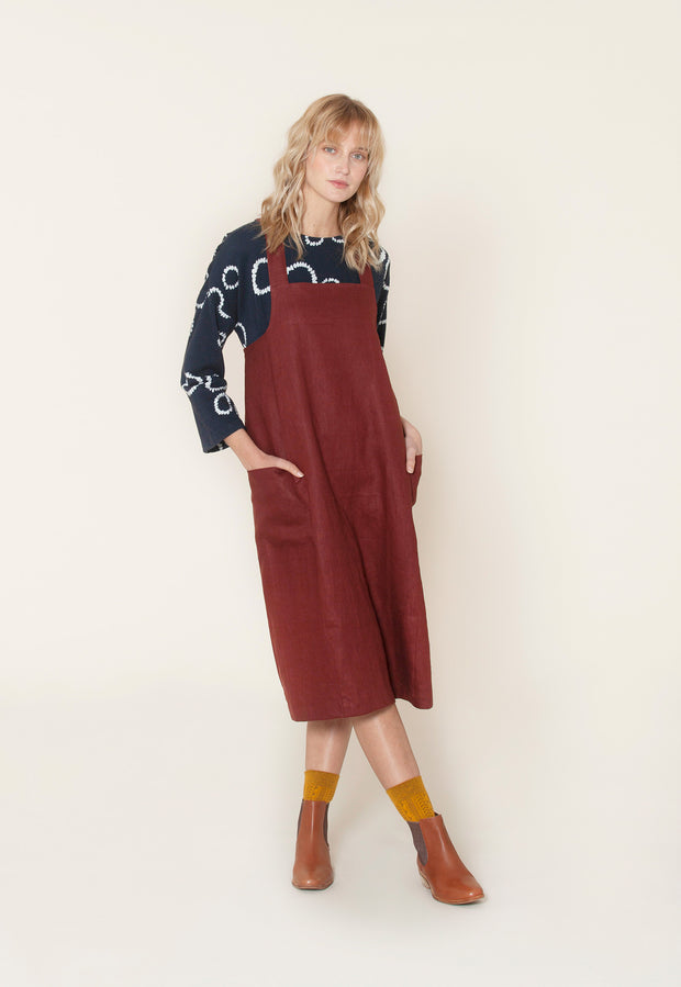 Dune Pinafore - Deep Red
