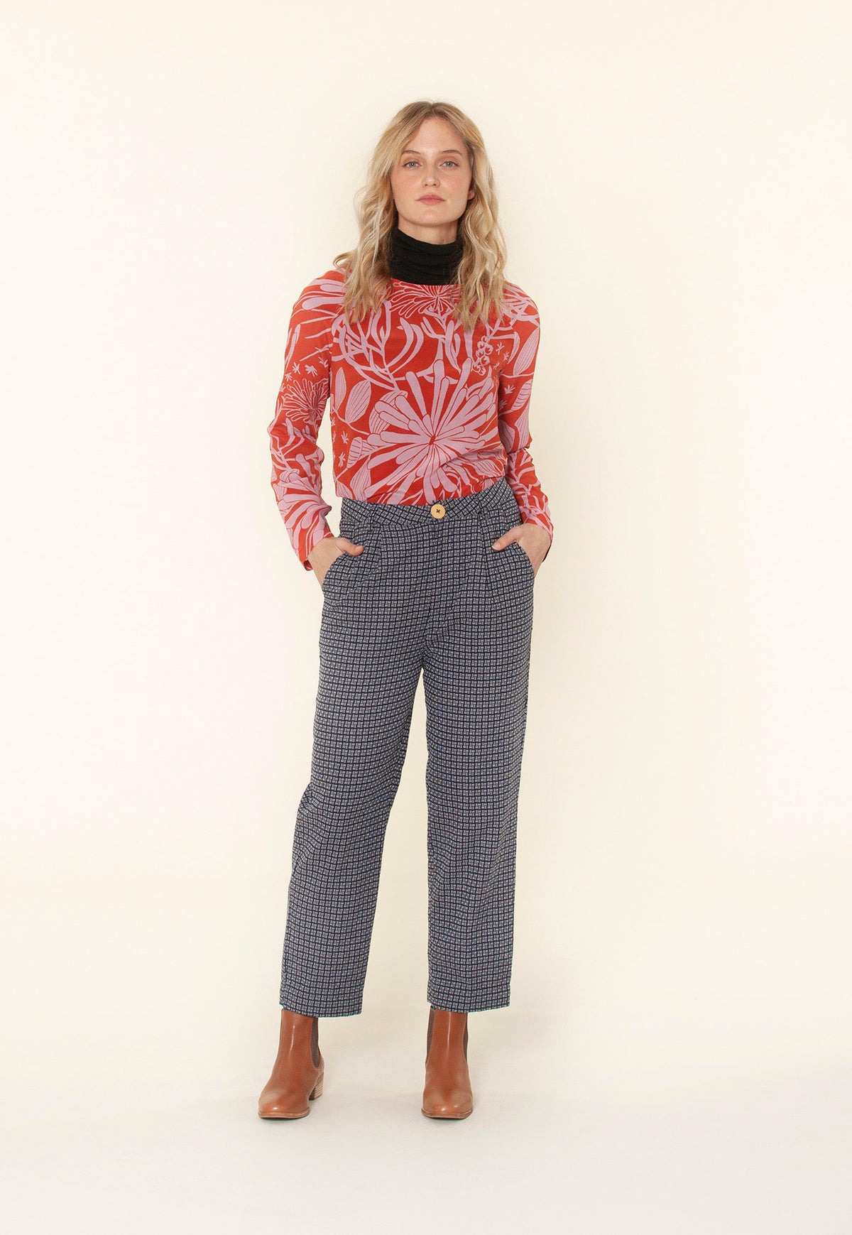 Stirling Pant - Woven Stripe