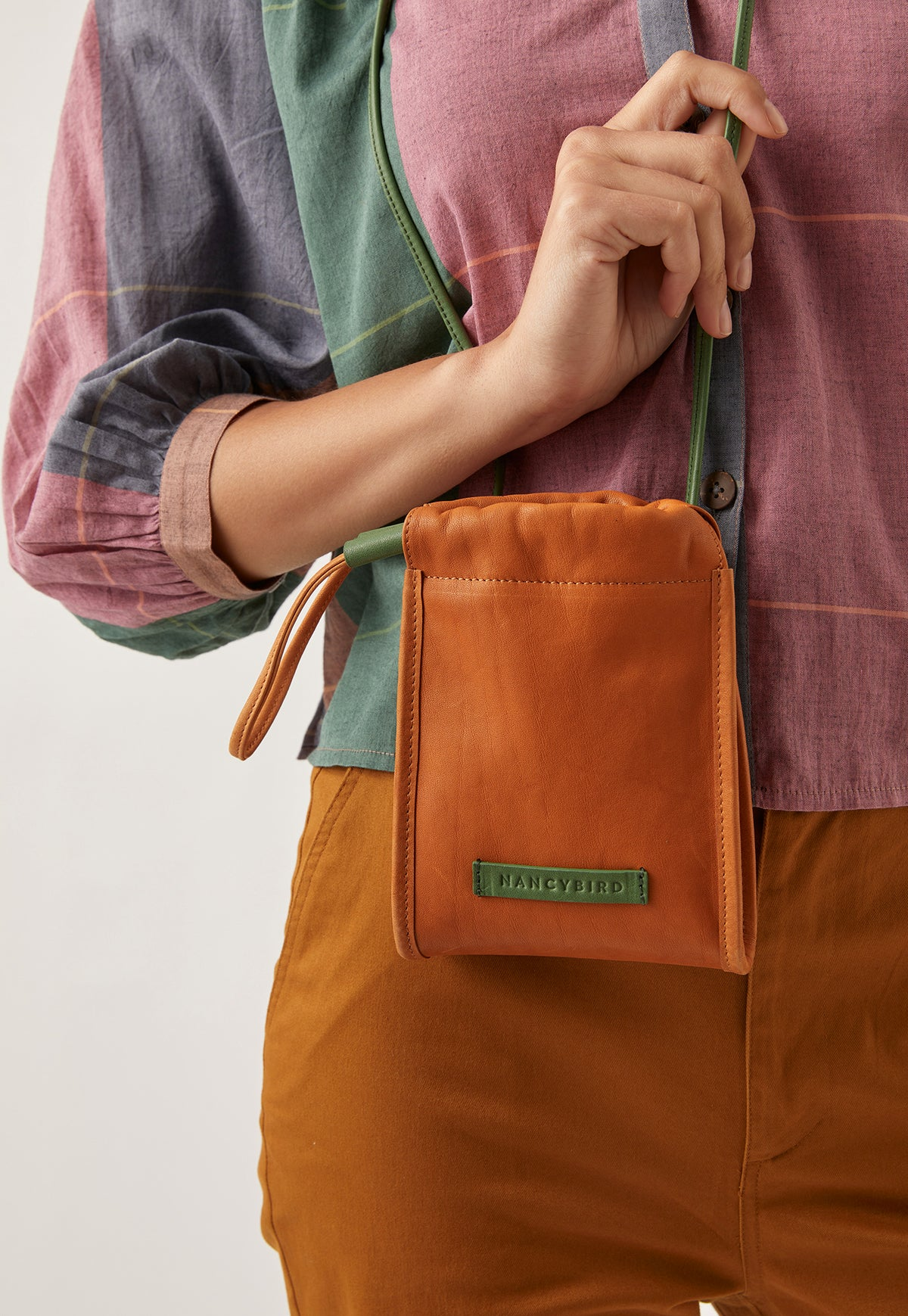 Drawstring Purse - Ochre
