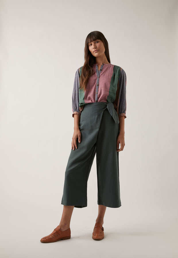 Poppy Wrap Pants - Khaki