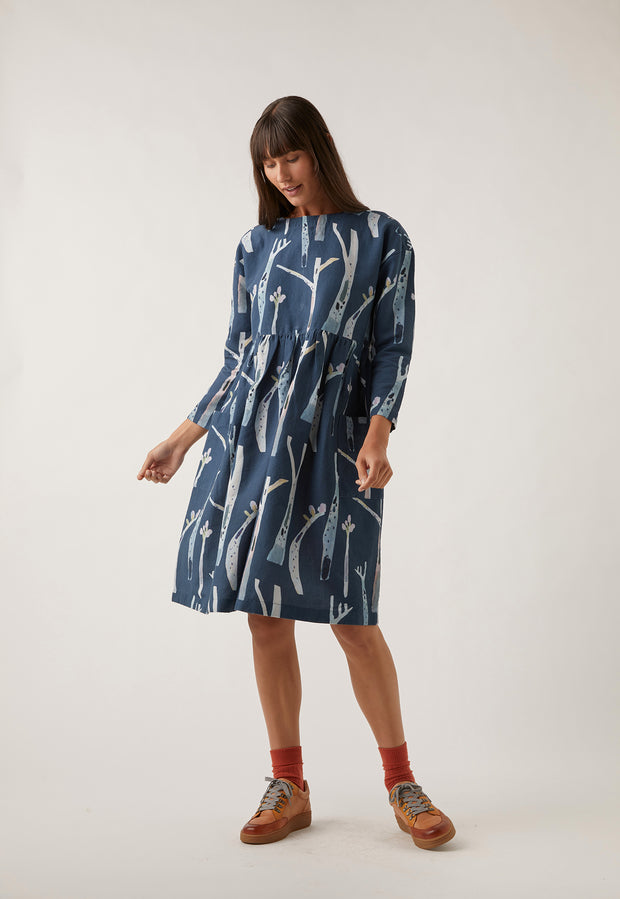 Falls Dress - Navy Gum