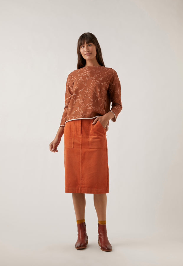 Laelia Skirt - Burnt Orange