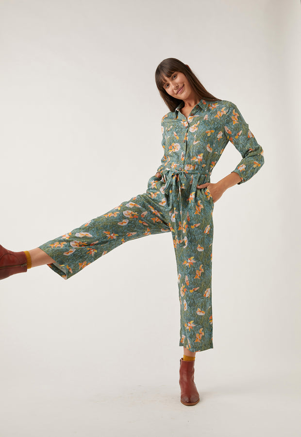 Jade Shirt Jumpsuit - Bougainvillea