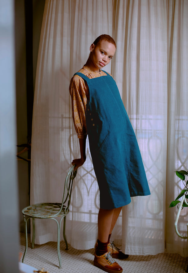 Laelia Pinafore - Teal