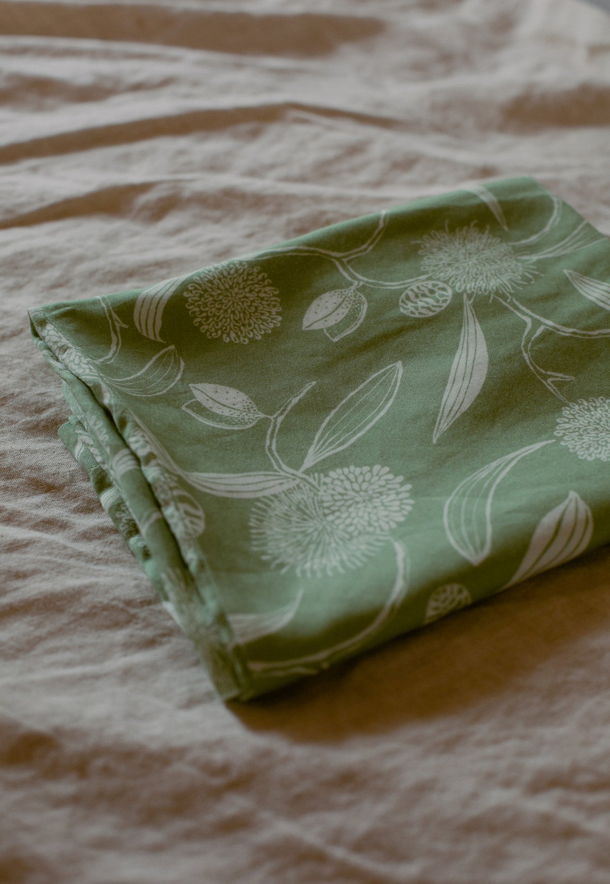 Pillow Case - Hakea Floral Khaki