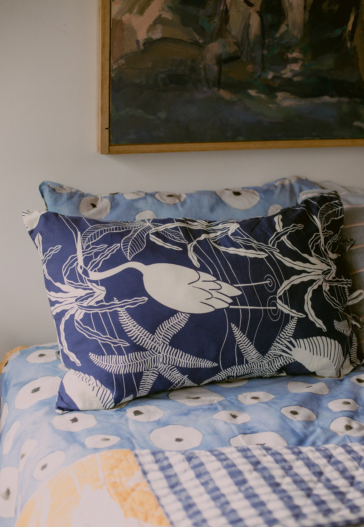 Pillowcase - Brolgas Navy