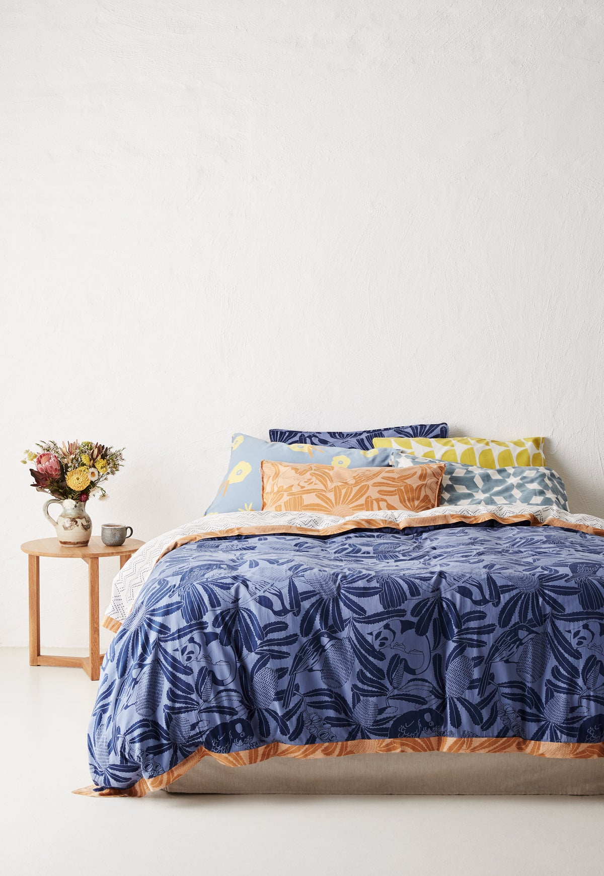 Quilt Cover - True Blue Banksia