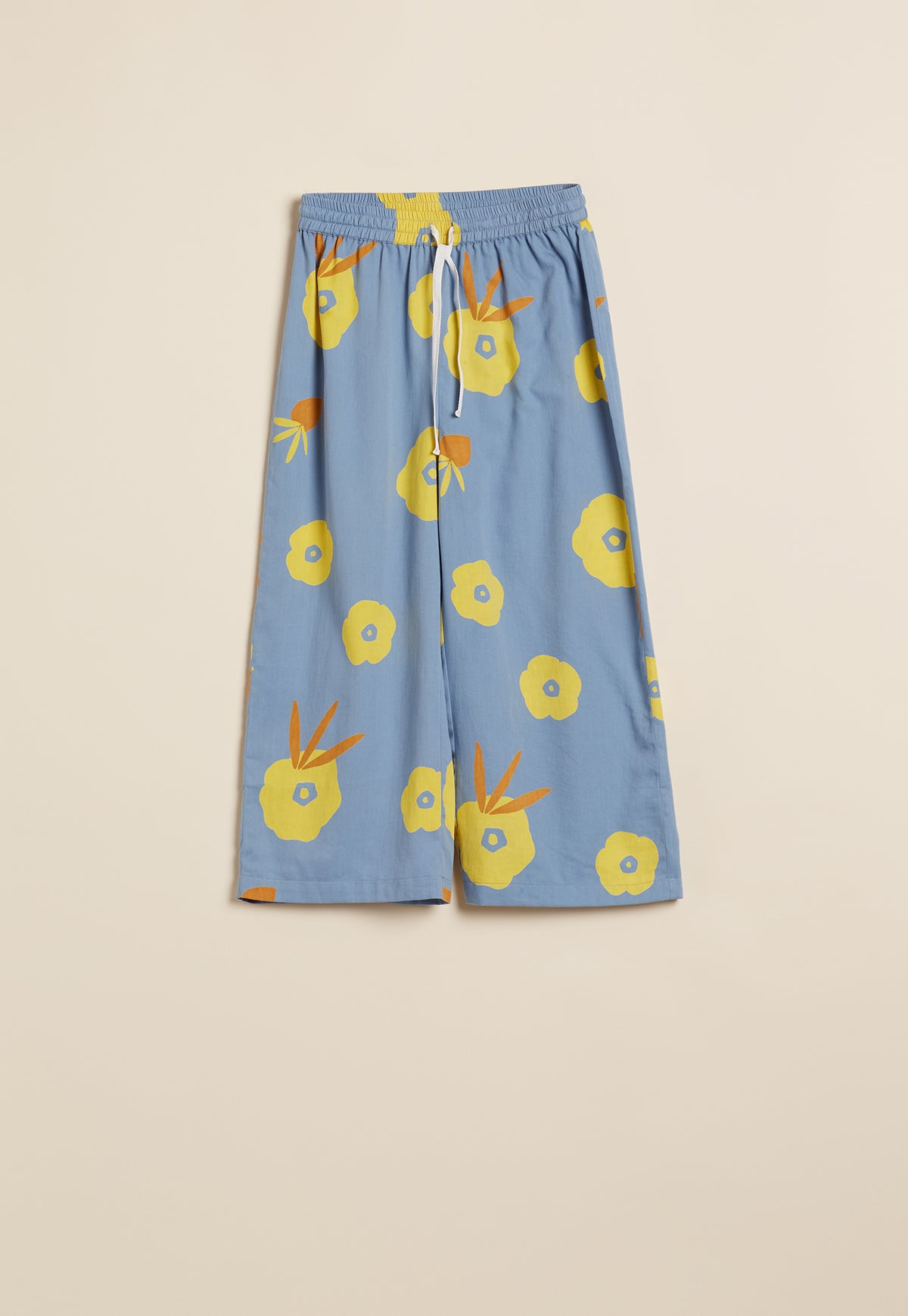 Pyjama Pants - Dusty Blue Hibiscus