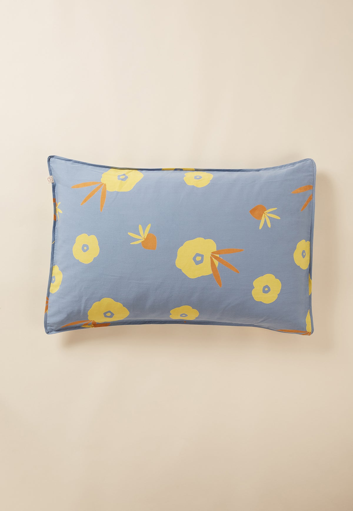 Pillowcase - Dusty Blue Hibiscus