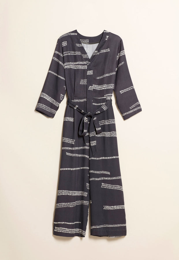 Piper Jumpsuit - Charcoal Mudflats
