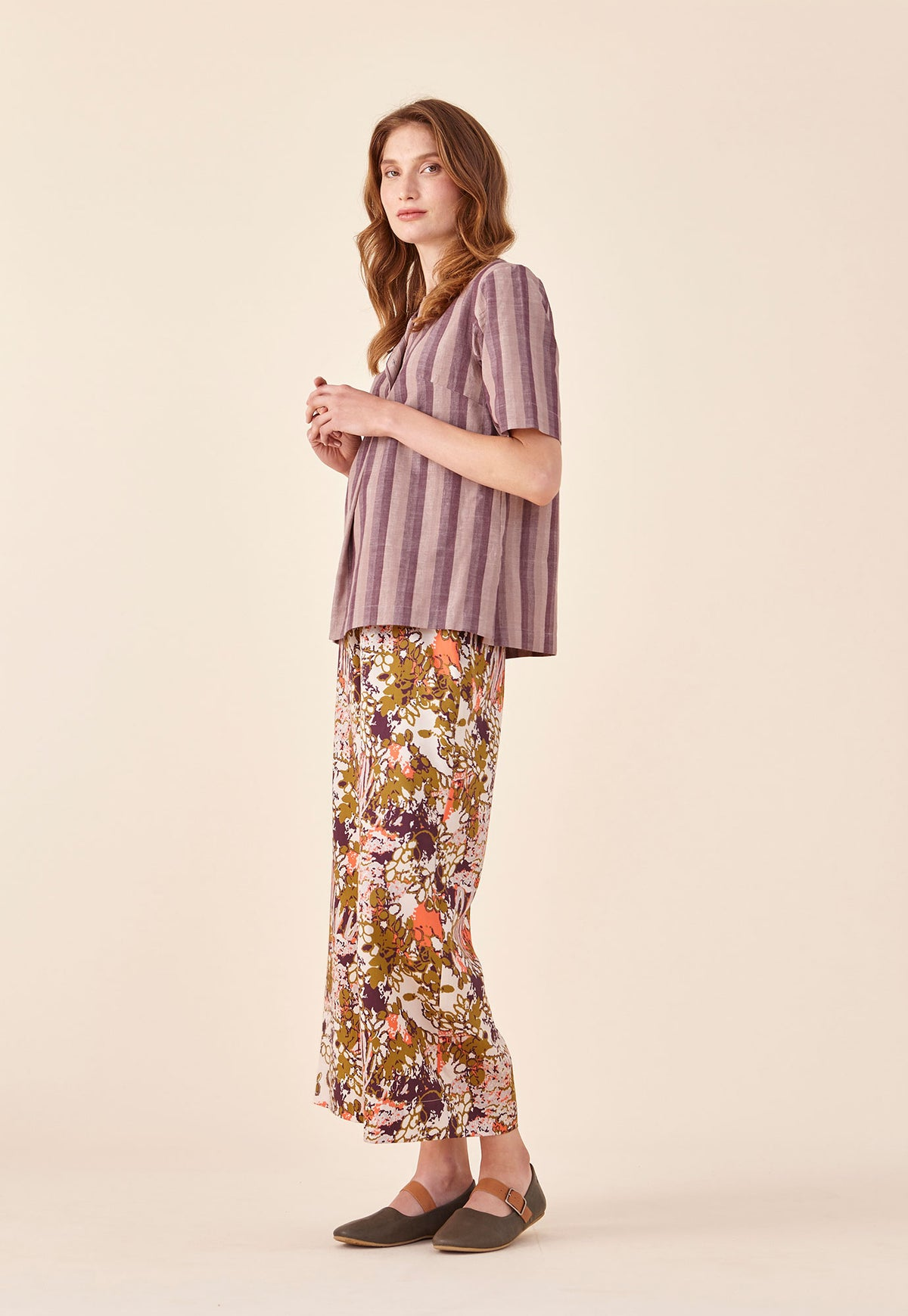 Pleat Top - Aubergine