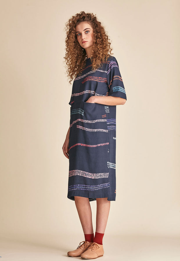Pocket Dress - Multi Mudflats