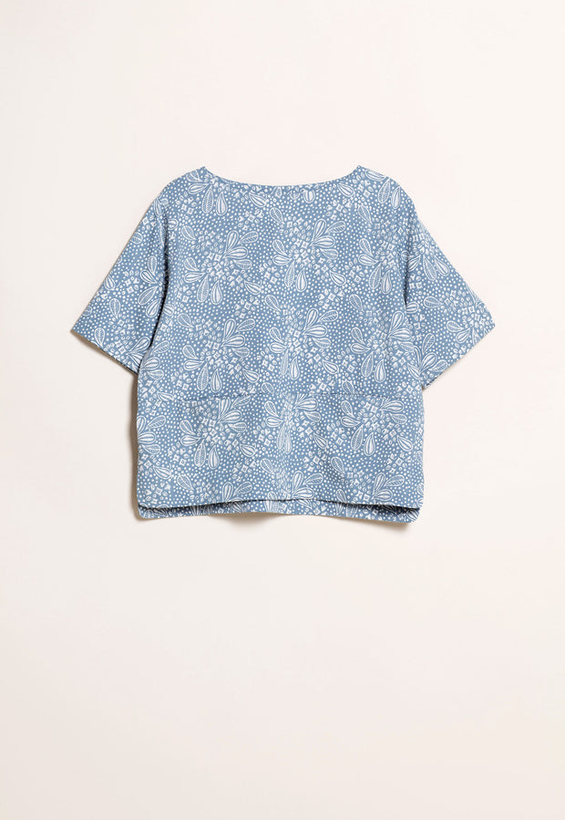 Pocket Top - Sky Floral