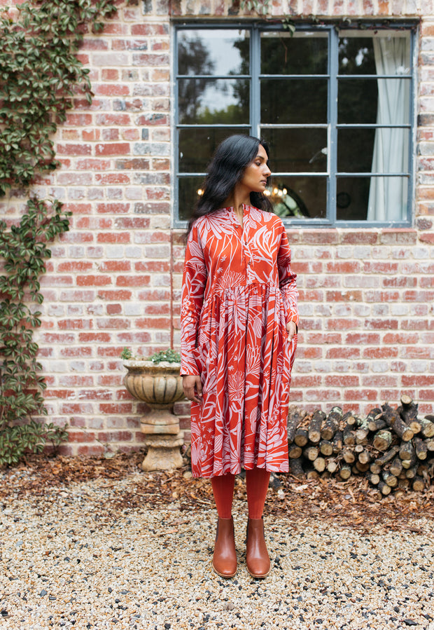 Falls Dress - Orange Pixie Mops