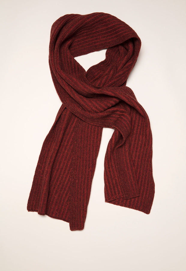 Rib Knit Scarf - Maple