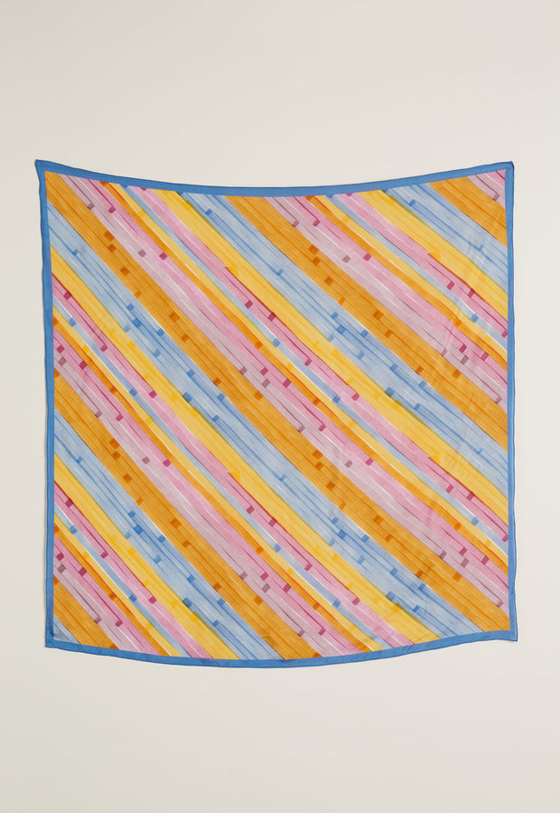 Silk Square Scarf - Horizon Stripe